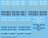 "Decals ""Potable Water"""